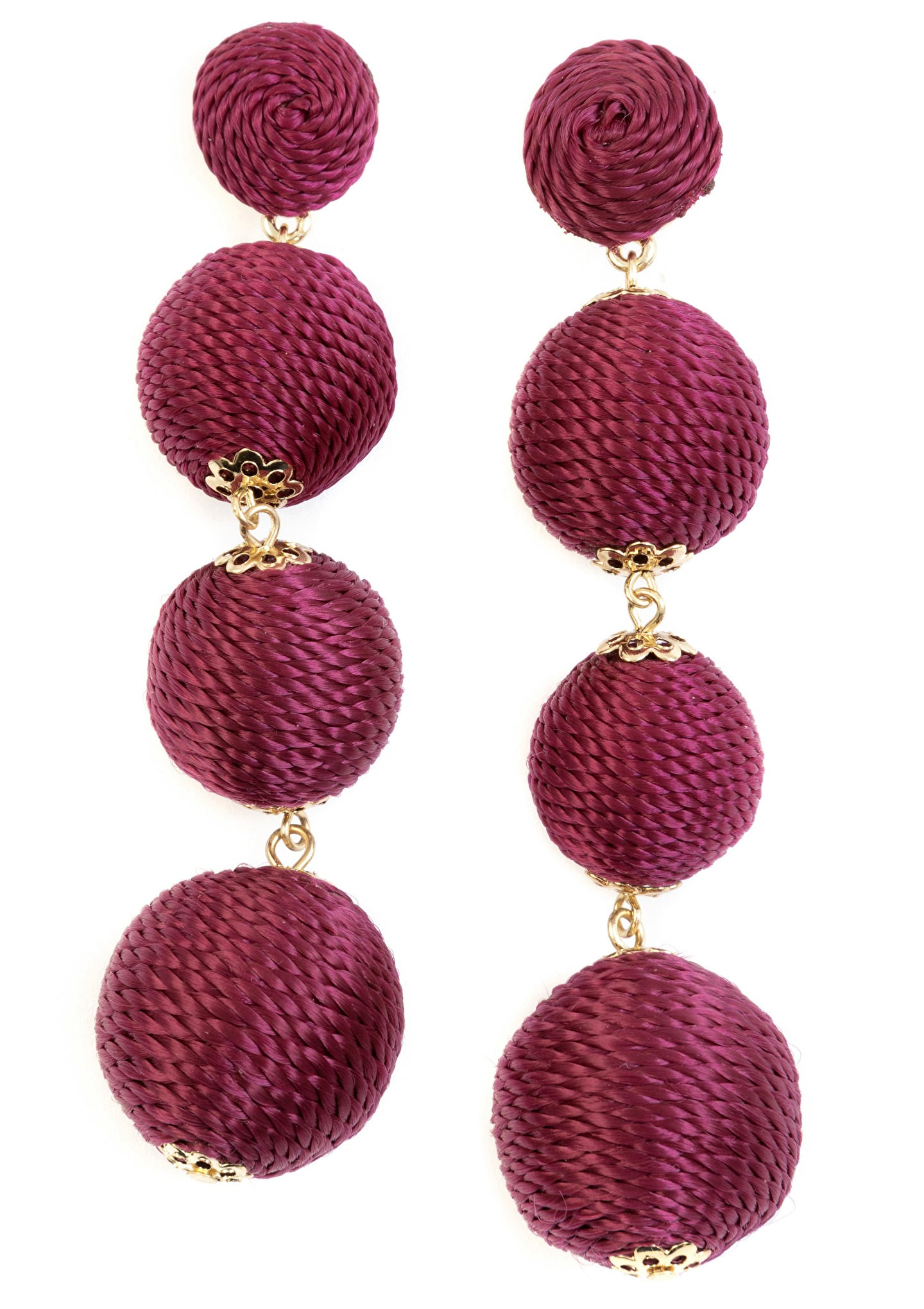 Burgundy Dangle Earrings Happiness Boutique