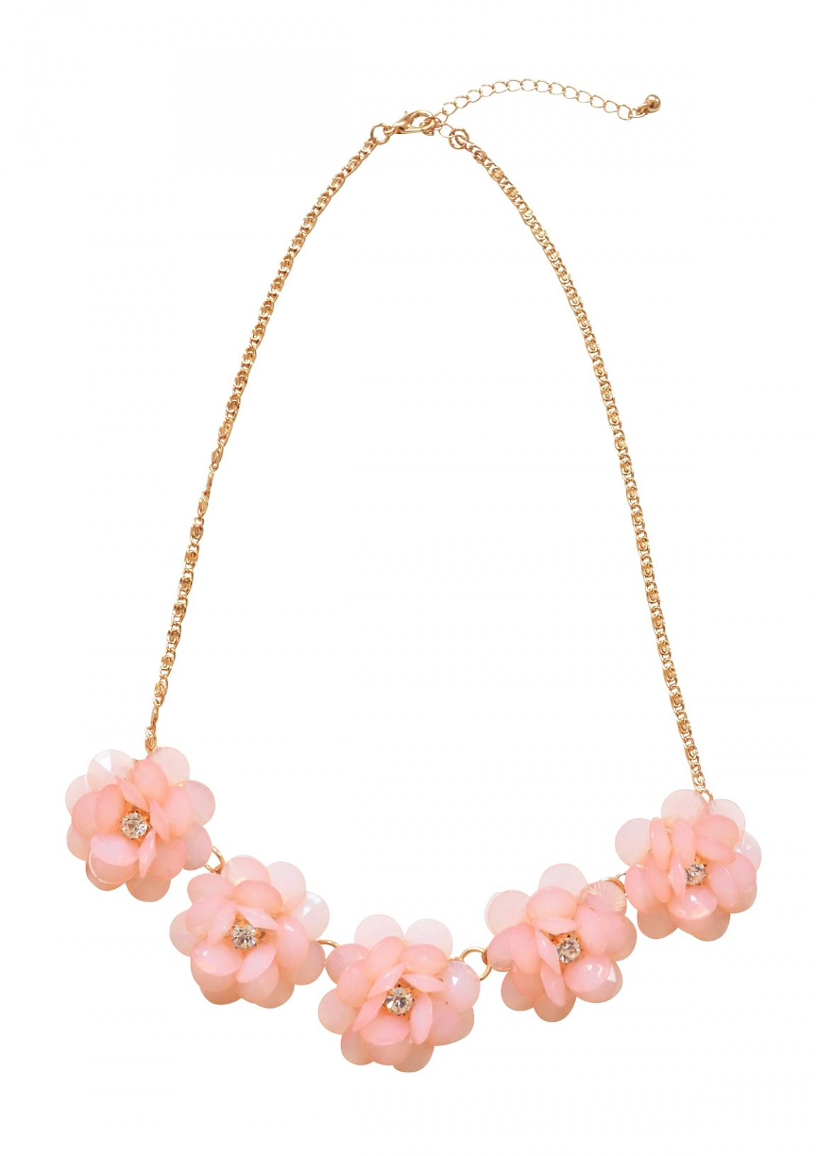 Pastel Pink Flower Statement Necklace Happiness Boutique