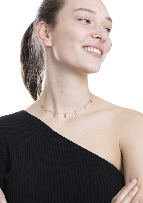 Star Delicate Necklace Rose Gold 5