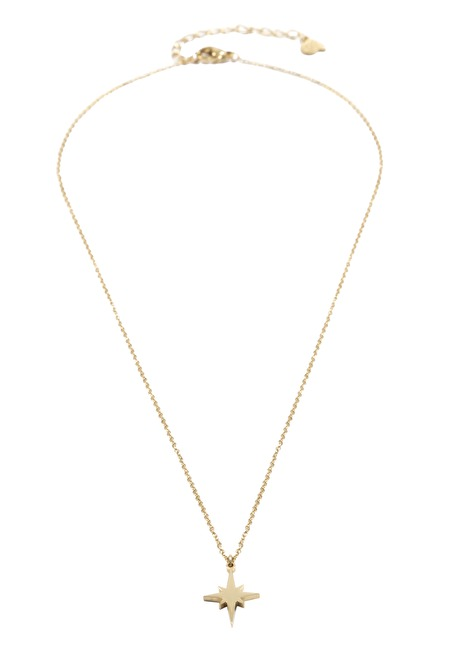 North Star Pendant Necklace Gold 3