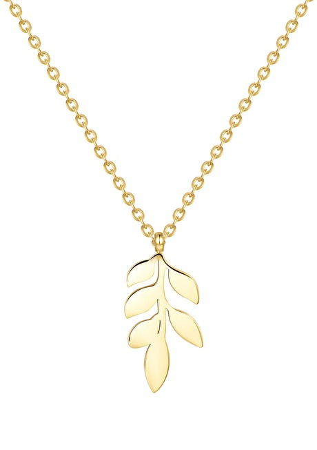 Pretty Leaf Necklace Gold 1
