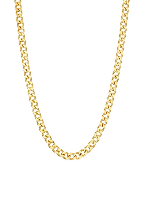 Chunky Curb Chain Necklace Gold