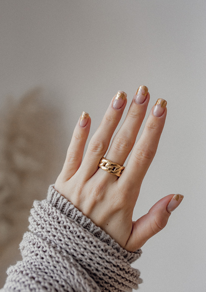 Chunky Curb Chain Ring Gold