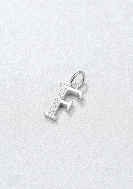 Letter Pendant Sterling Silver 16